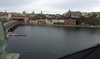 Fin utsikt från taket på gamla Riksdagshuset. Bild: M Sundbom